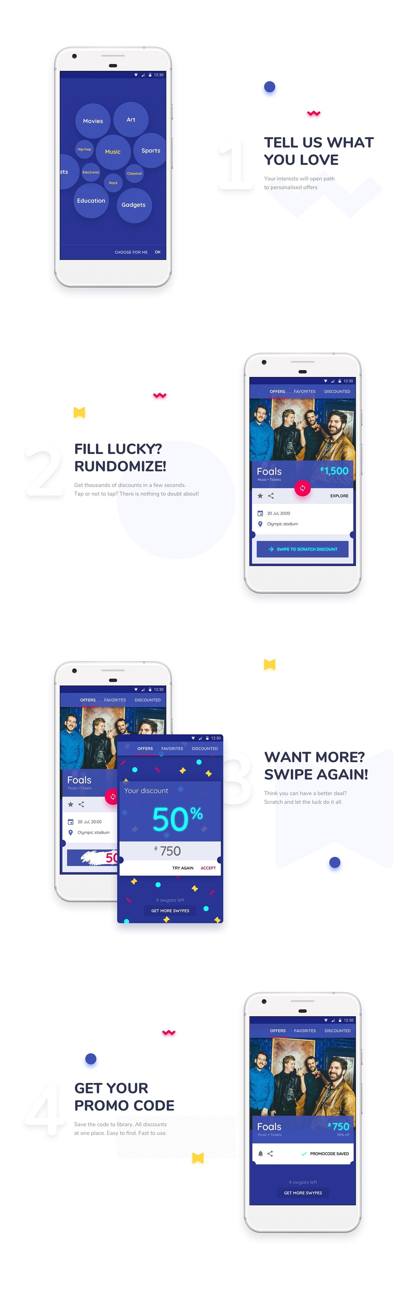 Mobile app ux UI application