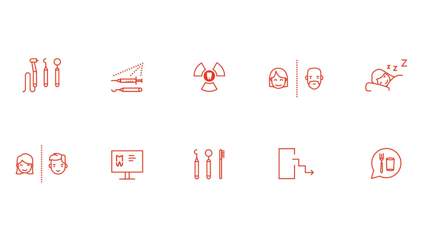 branding  identity Logotype interior design  Webdesign dentist CI ILLUSTRATION  Icon