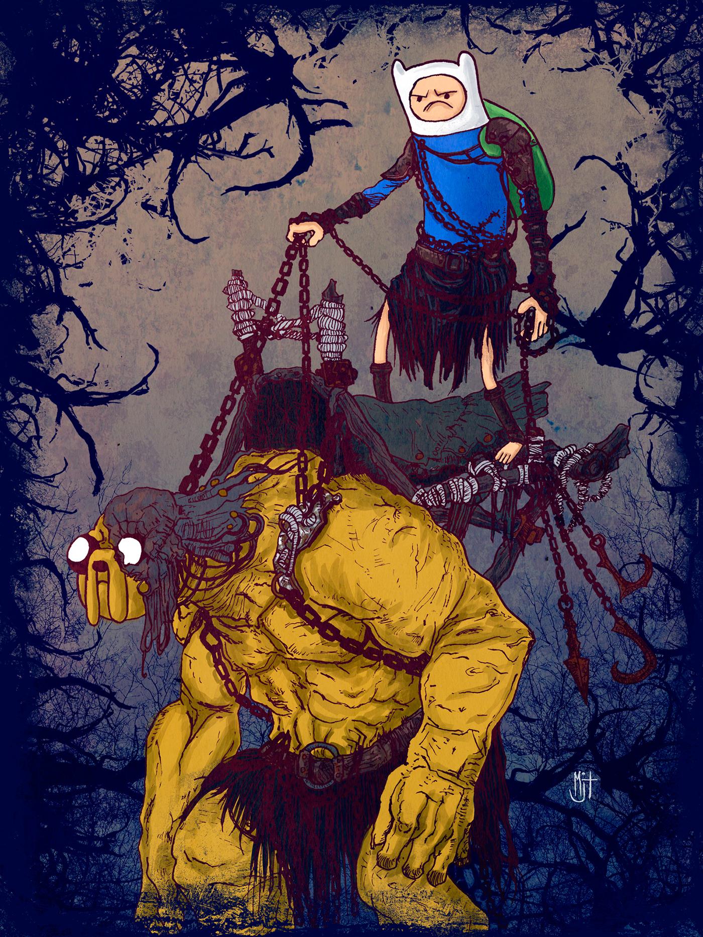 Dark Adventure Time On Behance