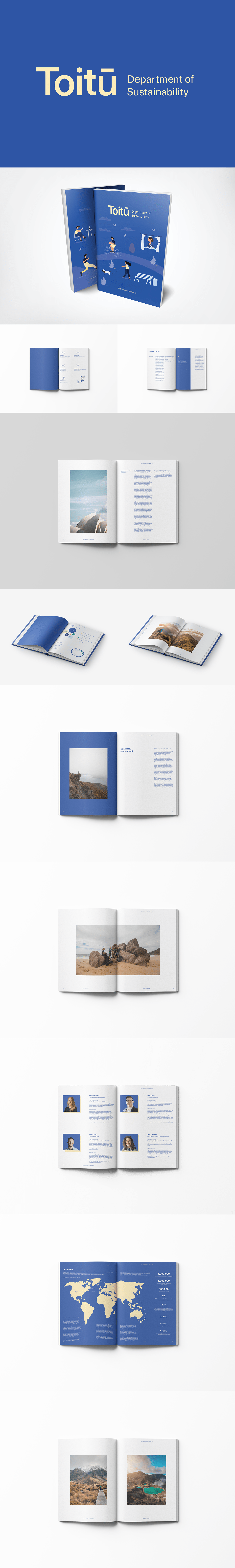 annual report conservation Data graphic design  logo New Zealand Photography  publication Sustainability Sustainable