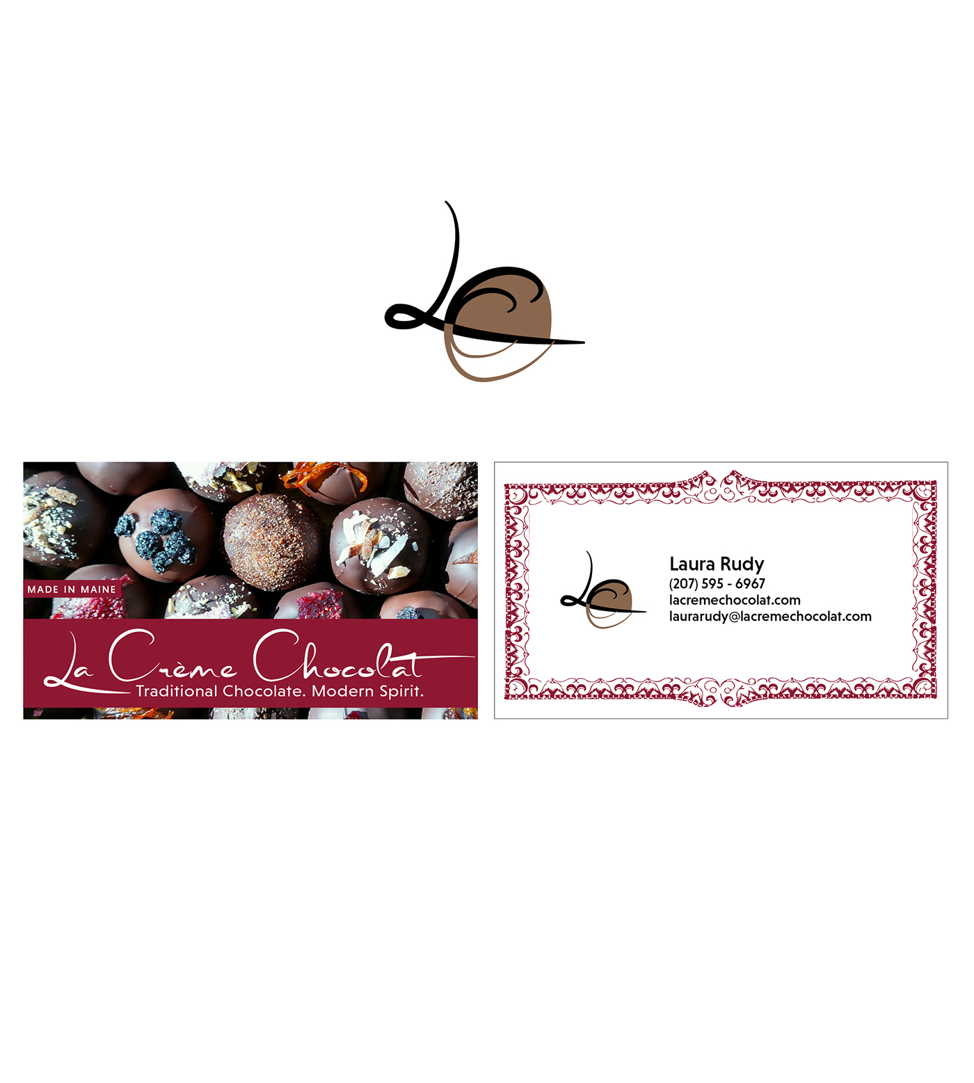 La Creme Chocolate Business Card + Icon on Behance