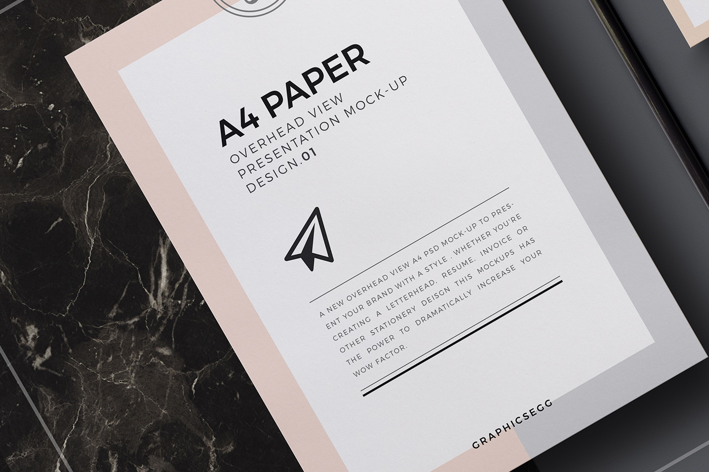 A Paper Overhead View Mockup Free Psd On Behance - Invoice mockup psd free