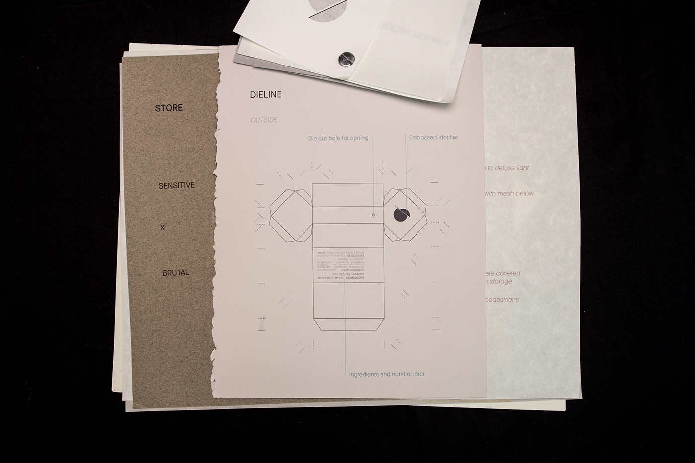 package design  branding  tactile haptic graphic design  fashion design Firm Photography japanese material spice