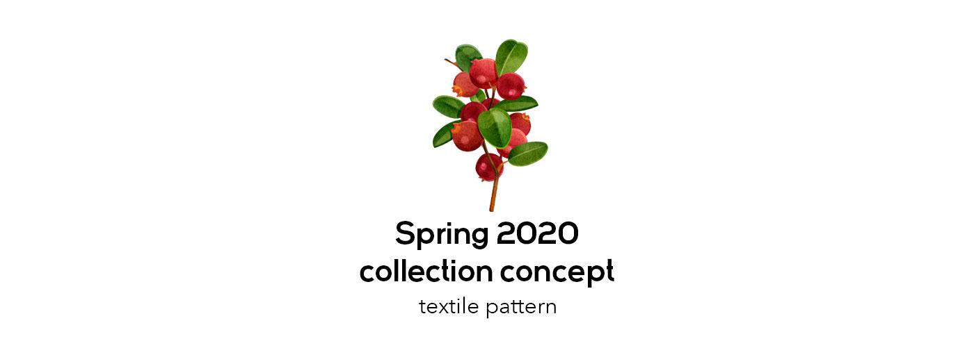 botanical clothes design fabric Fashion  flower ILLUSTRATION  pattern print textile