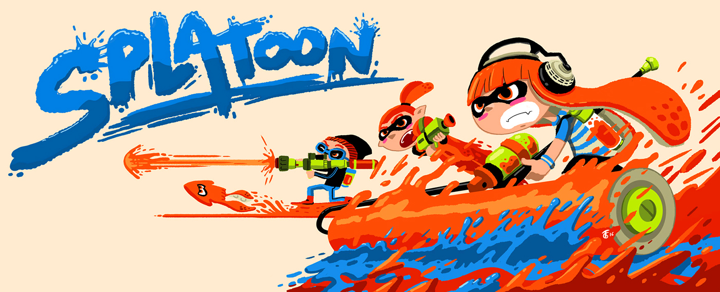 SEGA Nintendo Videogames Starfox sonic pikmin Splatoon ILLUSTRATION  consoles