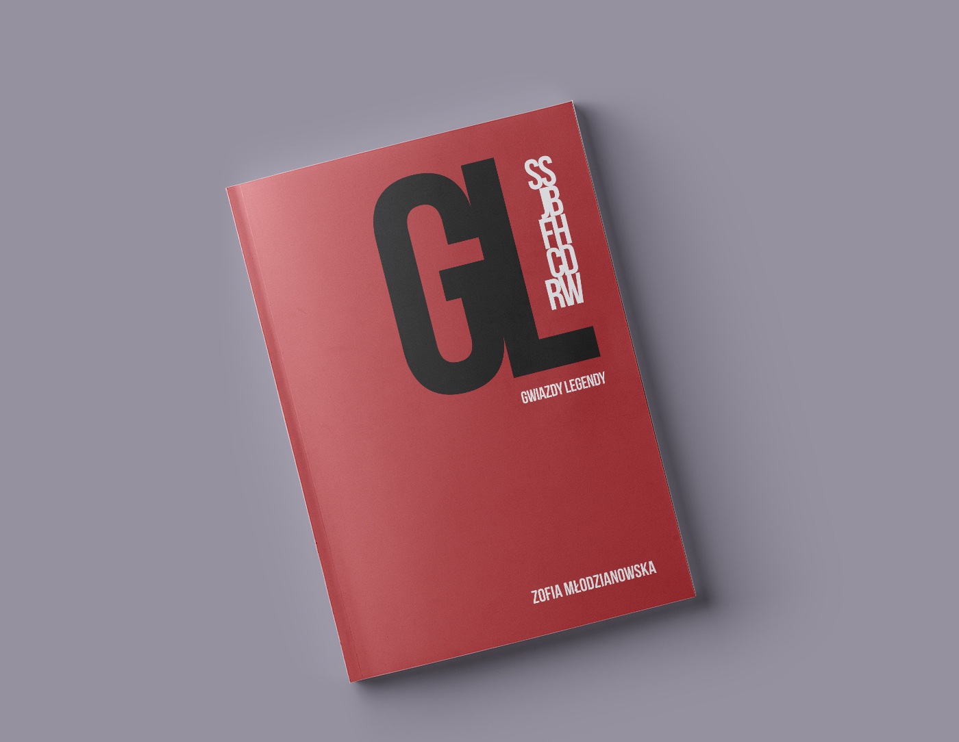 book magazine editorial red pages design clean