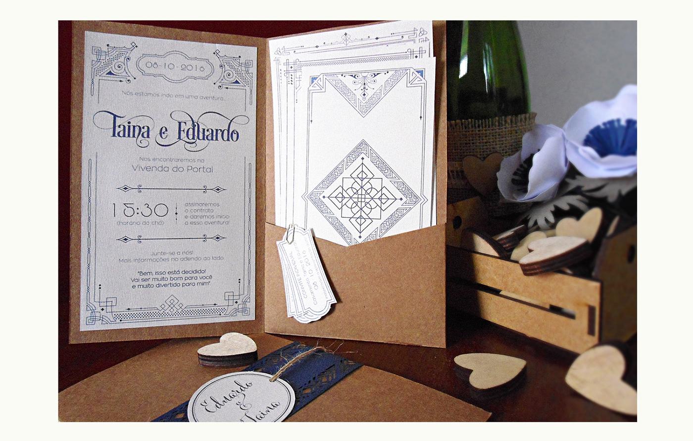 wedding Invitation paper paperart craft lordoftherings SenhordosAneis movie temed hobbit