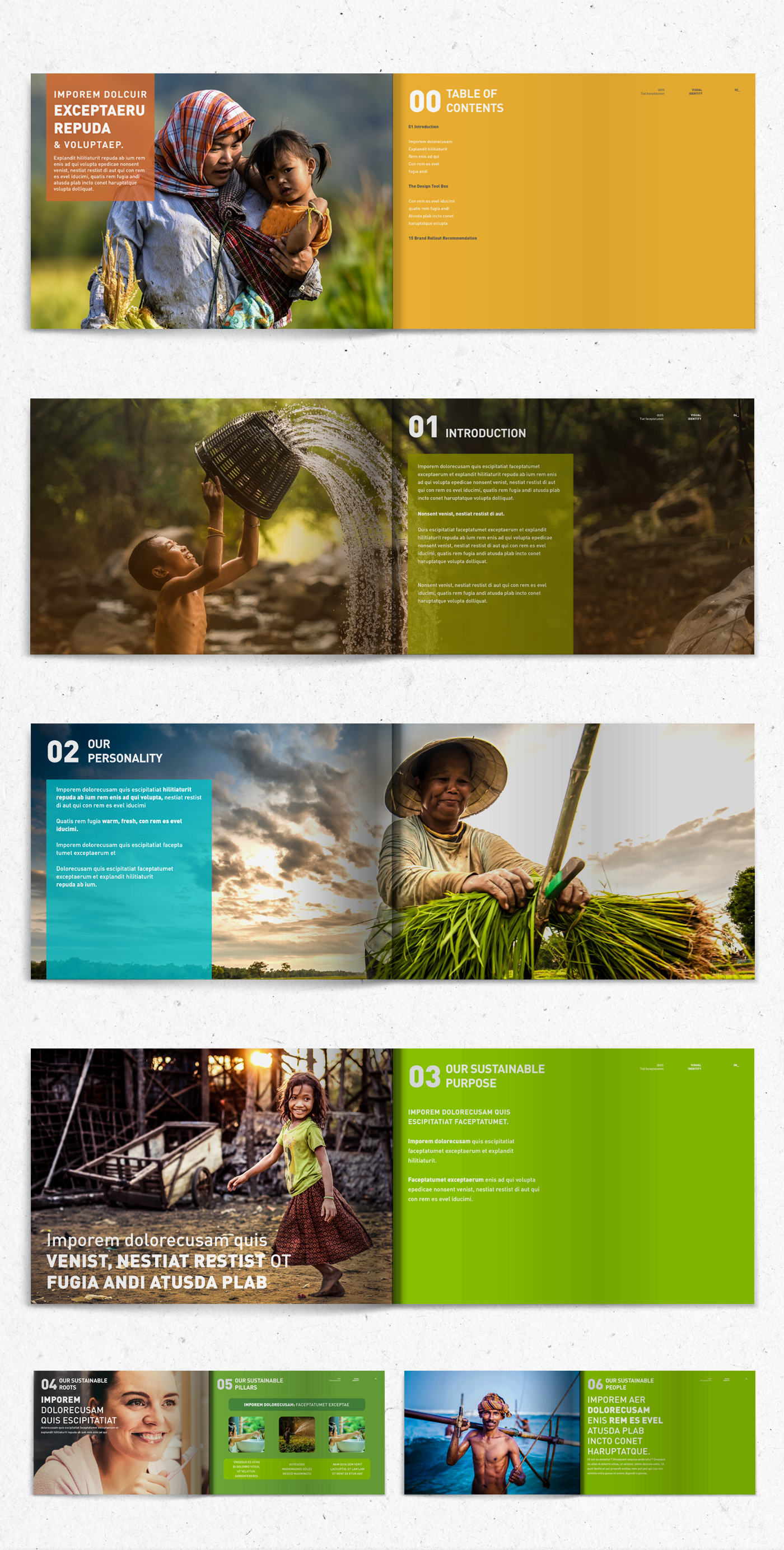 Sustainability visual identity brand guidelines branding  graphic design  Photography  campaign eco communication Corporate Identity