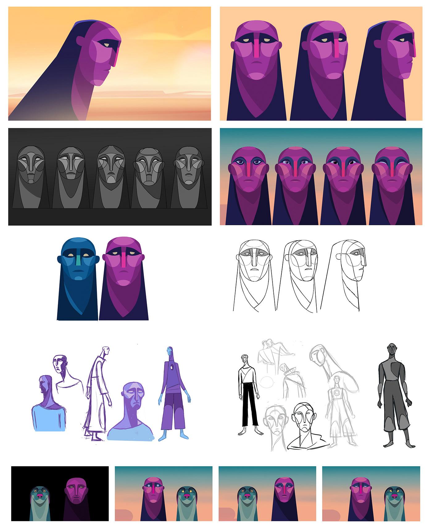 2D Character design  animation  ILLUSTRATION  background Vis Dev full animation cut out