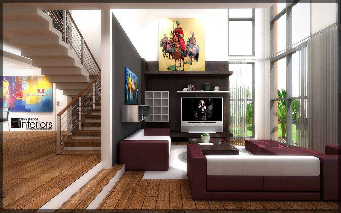 Kelvin House Interior Design Visualization Accra Gh On Behance