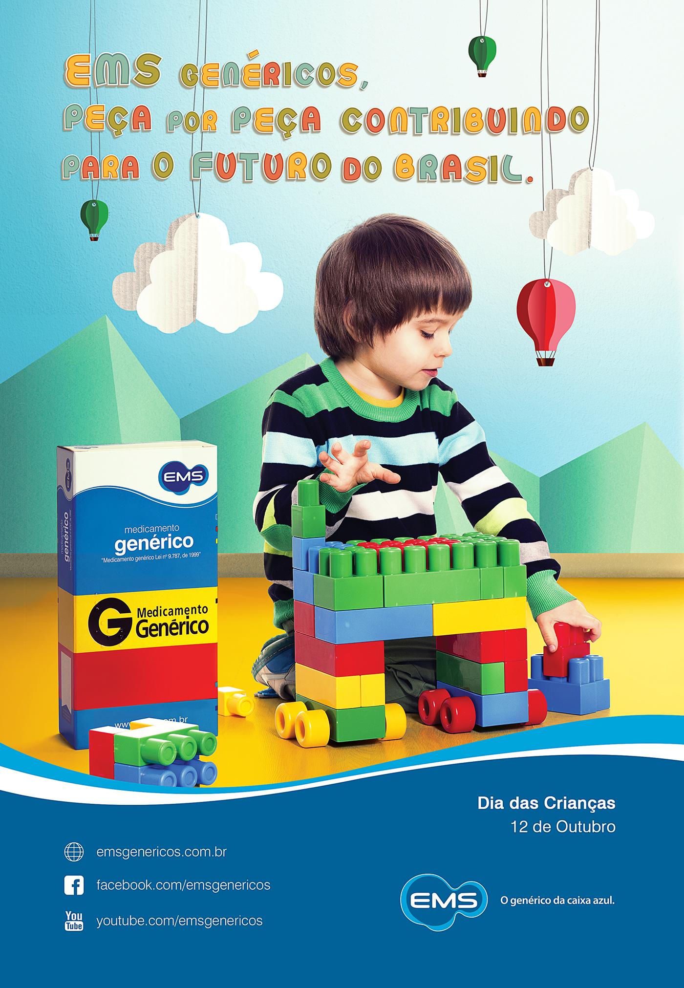 Anúncio Dia das Crianças - EMS on Behance