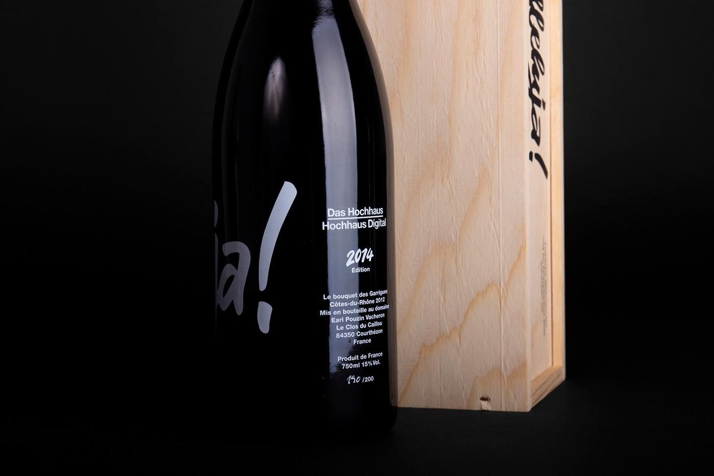 blackandwhite bottle Handlettering lettering Packaging type wine screenprint beverages winebottle