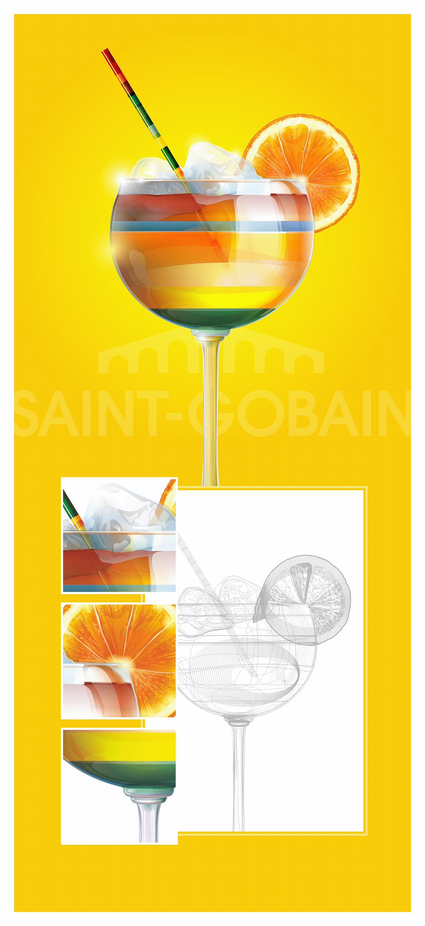 ILLUSTRATION  magazine cover vector Saint-Gobain corporate art