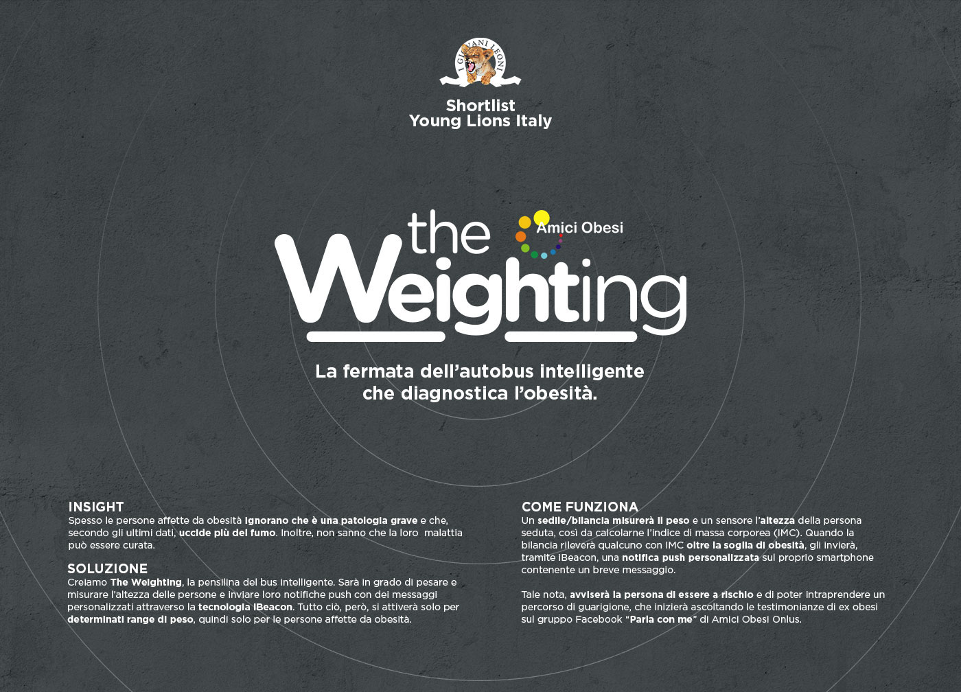 Young lions giovani leoni Cannes adci Art Directors Club Shortlist bus stop fat weight Cannes lions