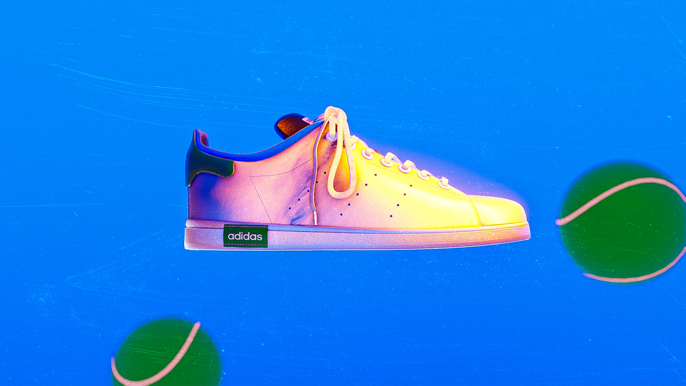 Side view of the Adidas Stan smash sneaker