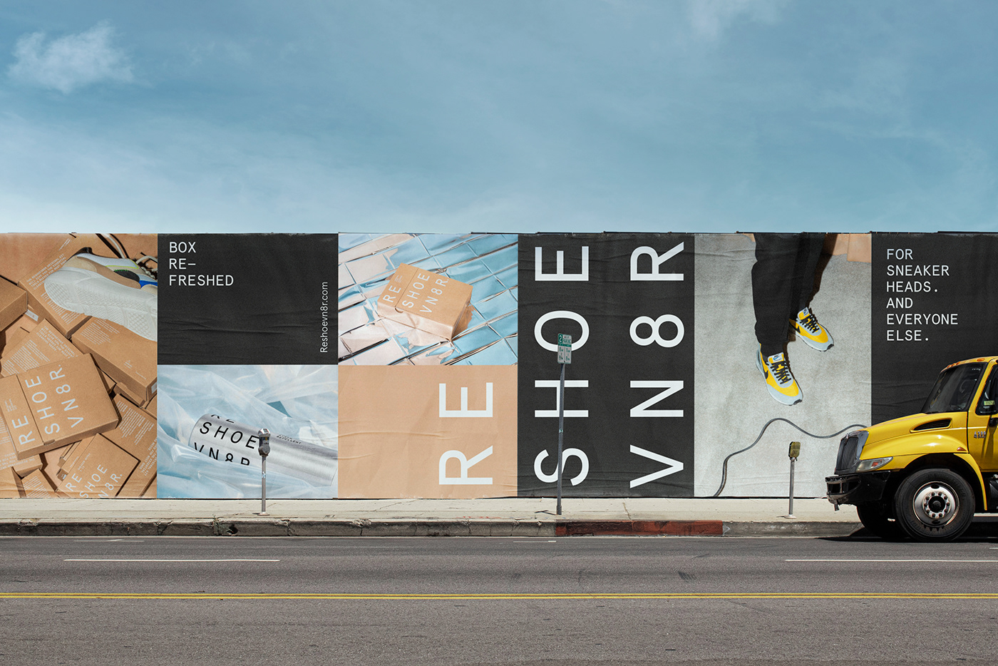 Reshoevn8r bill board paste up LA, USA