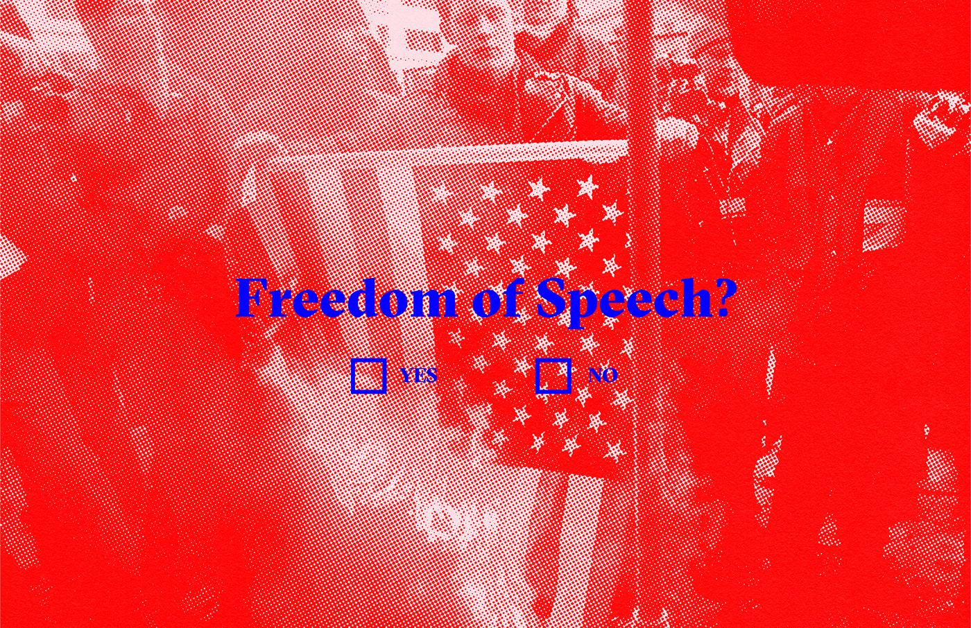 freedom of speech graphic design  design campaign editorial politics typography   Poster Design poster