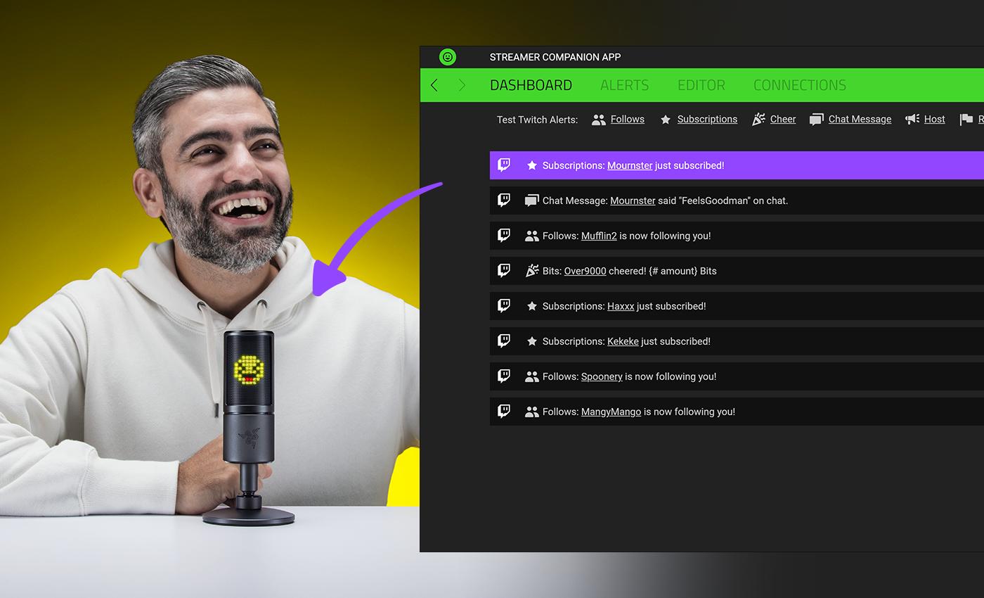 razer seiren emote Emoji chroma app chroma Twitch Streamlabs broadcast windows