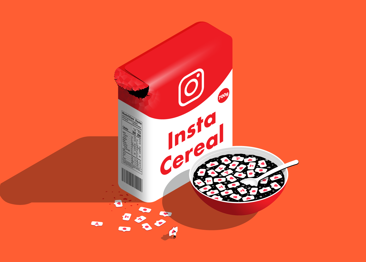 Insta Cereal vector Isometric Illustration
