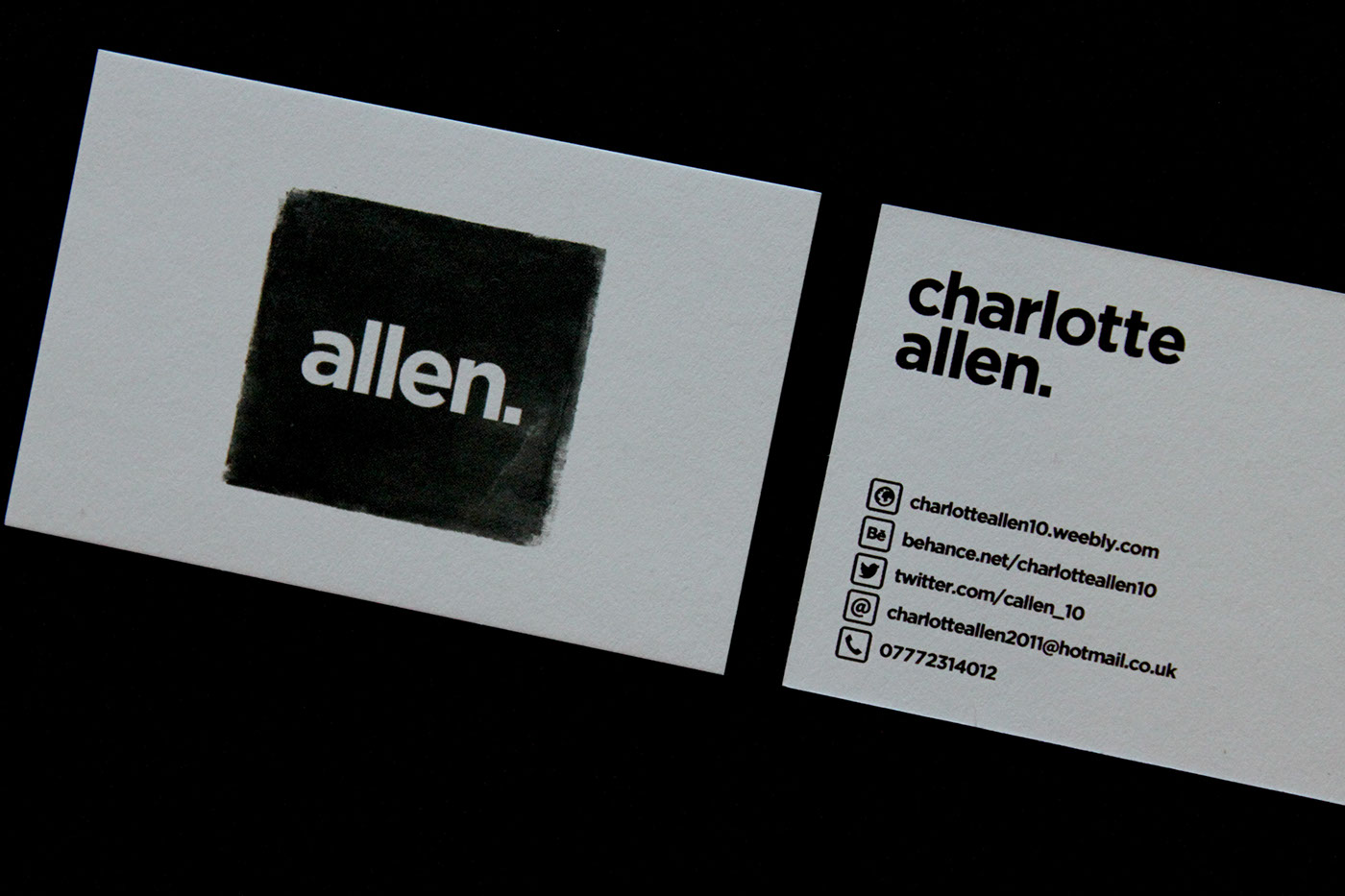 Self promotion business cards on behance the business cards are printed on mohawk superfine stock with a black seam running through the fabric of the cards using a heavy 600gsm paper weight and a magicingreecefo Gallery