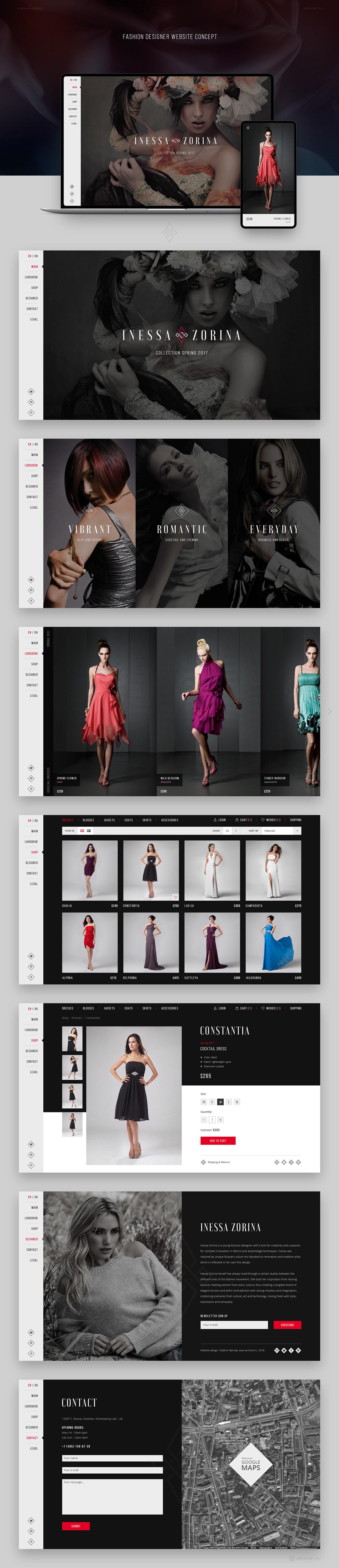 Inessa Zorina Fashion Designer Website On Behance