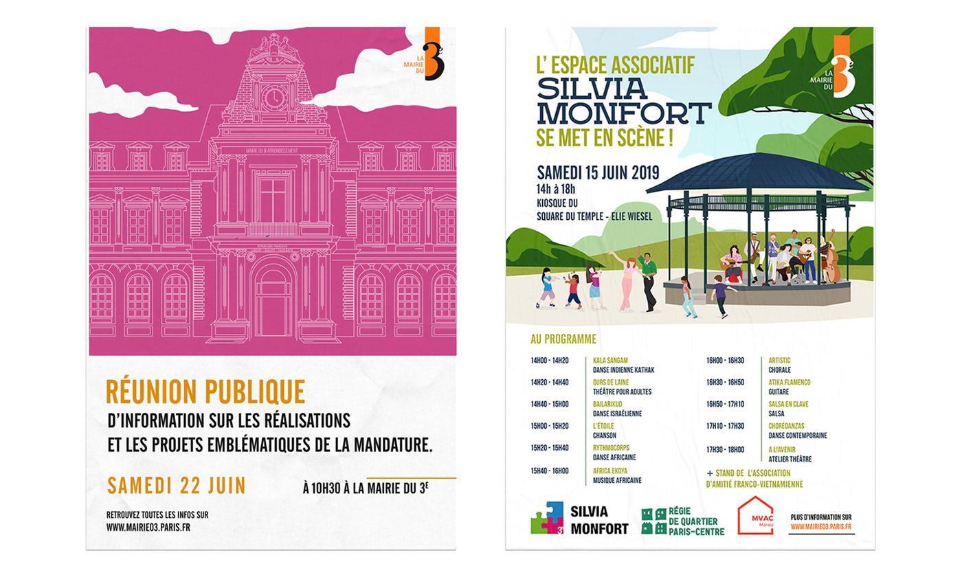 affiche flyer graphiste ILLUSTRATION  Paris