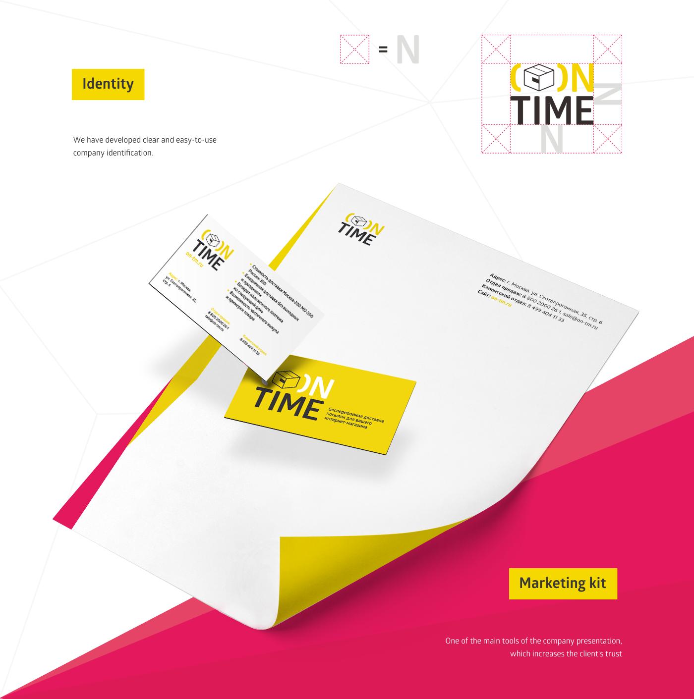 graphic design  branding  printing design logistic company Marketing Kit Booklet