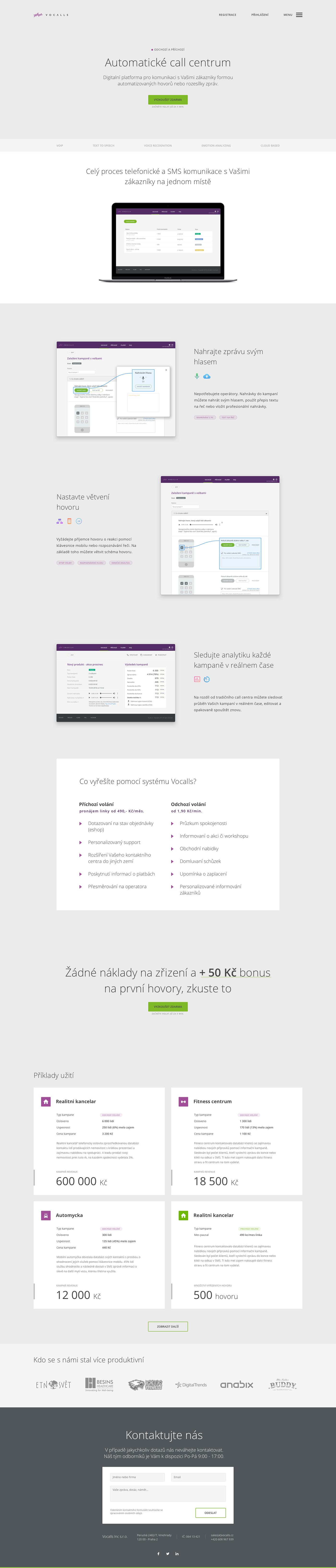 UX design ui design Webdesign Callcentrum Website design