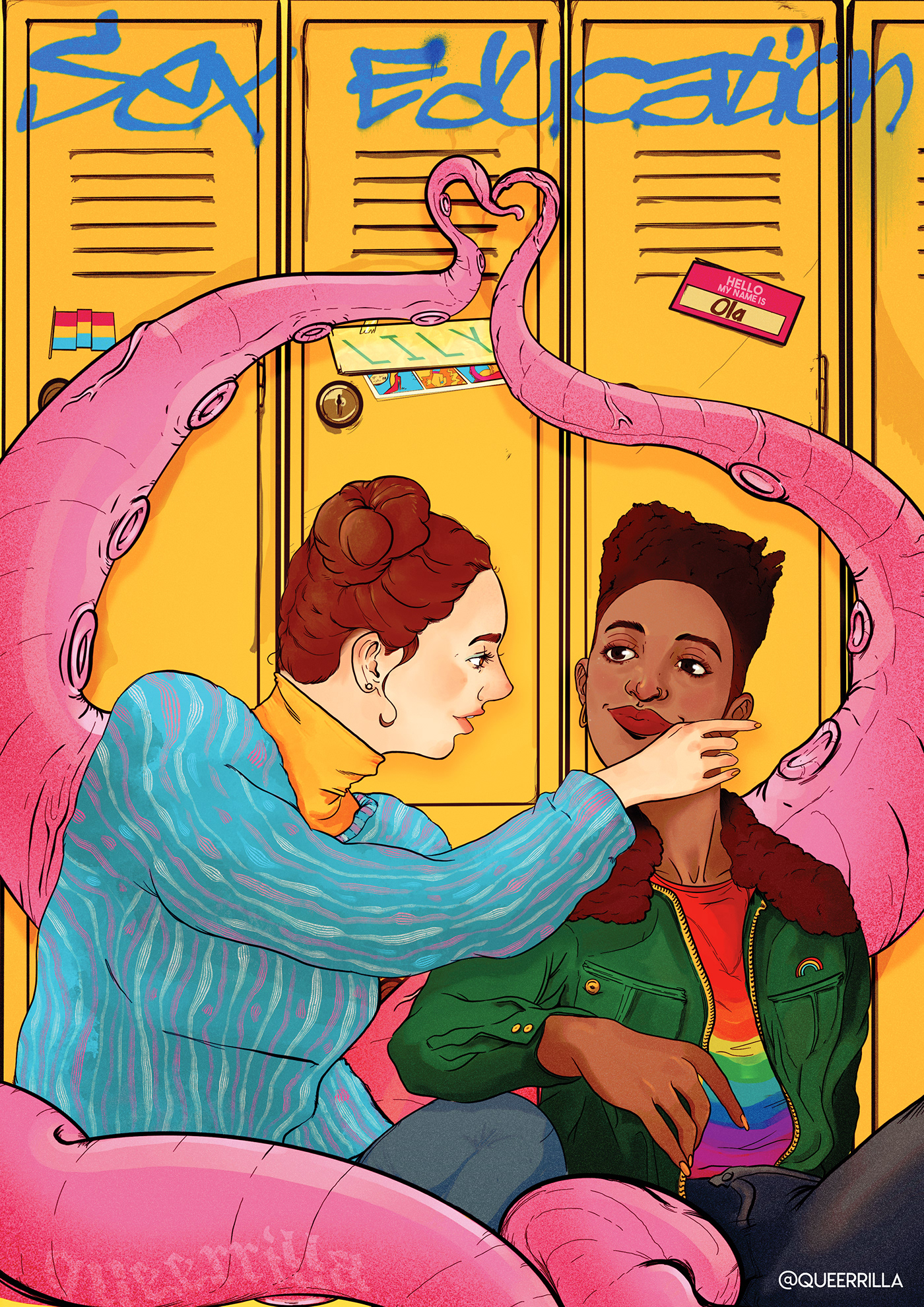 graphicdesign ILLUSTRATION  LGBTQ Netflix poster posters pride print queer tvshow