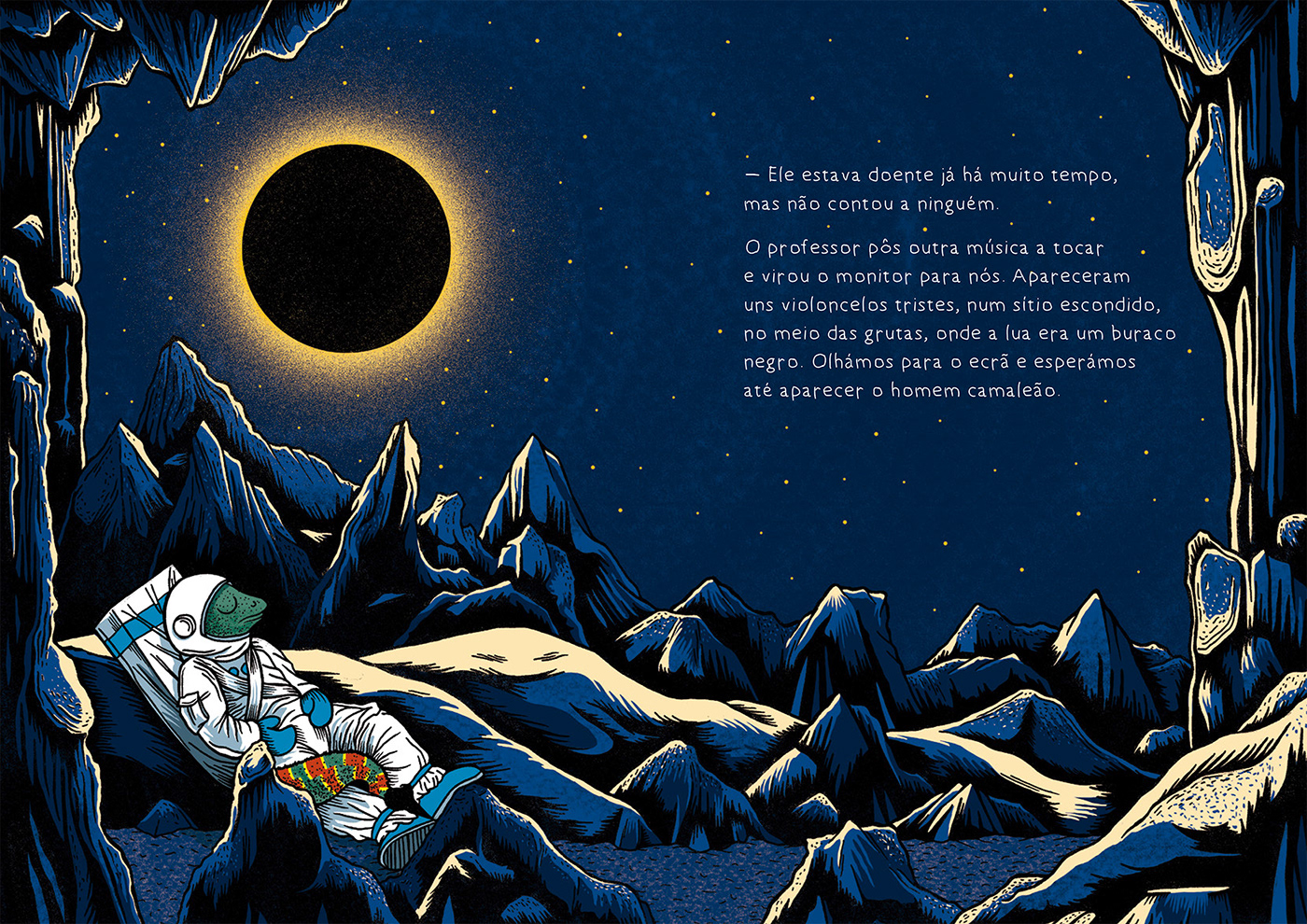 Image may contain: moon, illustration and screenshot