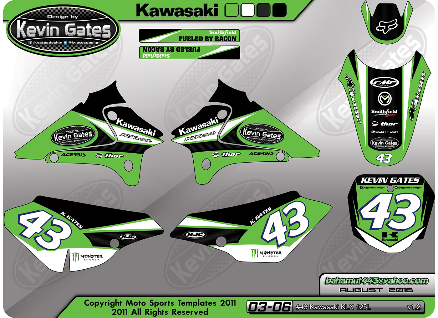 kawasaki klx 125 l custom graphics kit on behance