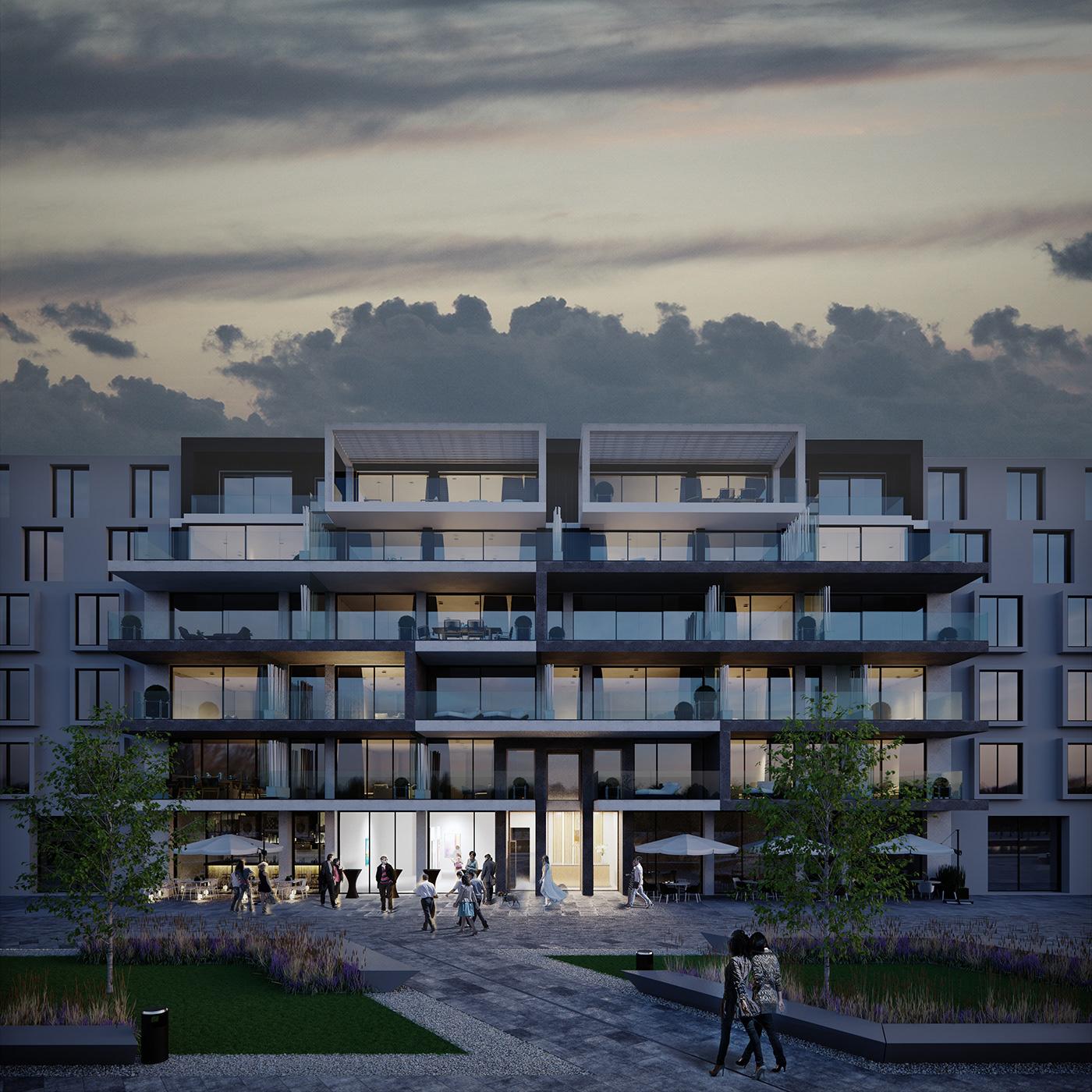 belgium boom exterior Renders postproduction modern