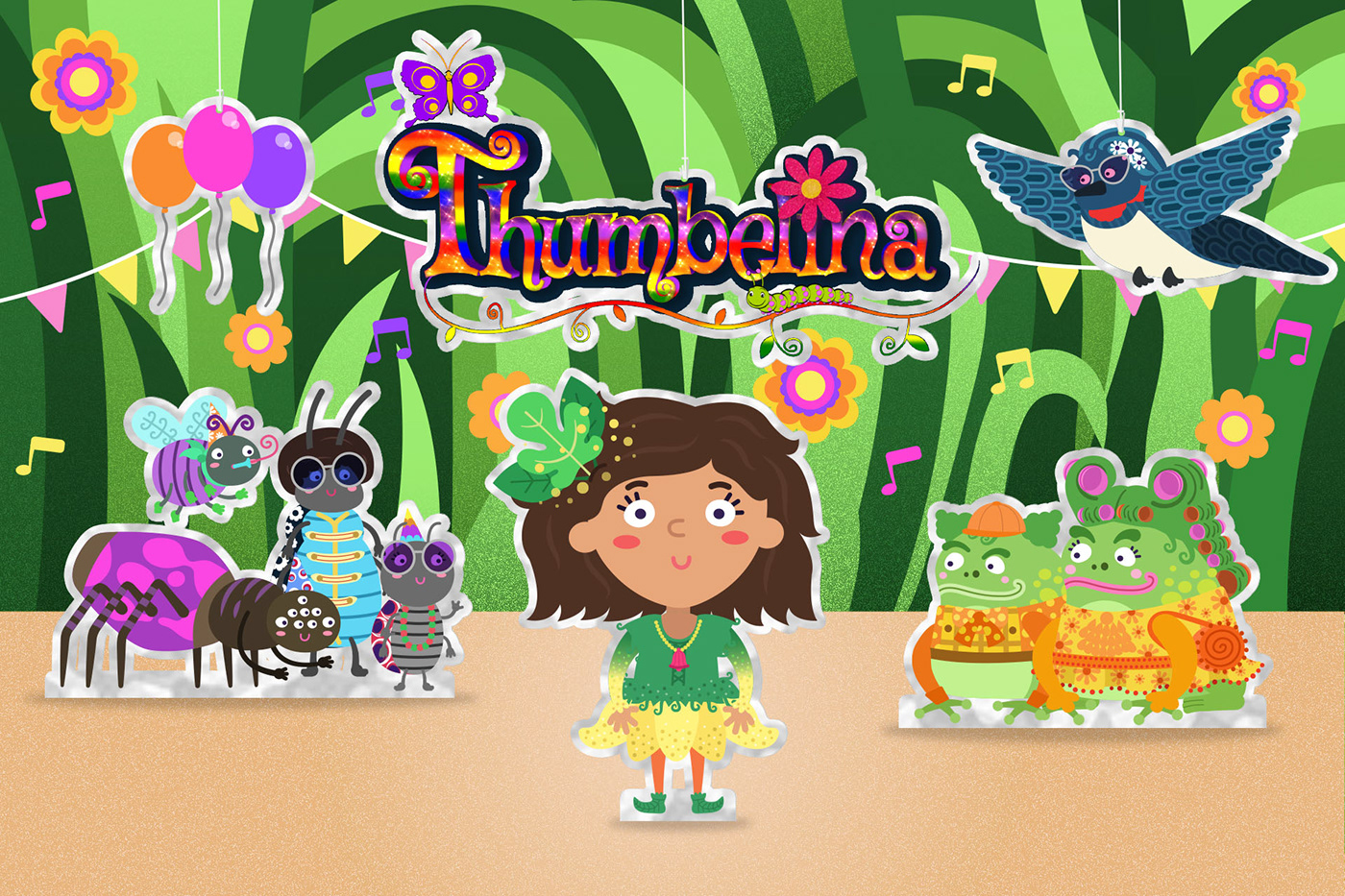 Thumbelina fairy tale cbeebies children Storytime interactive story fairy play BBC