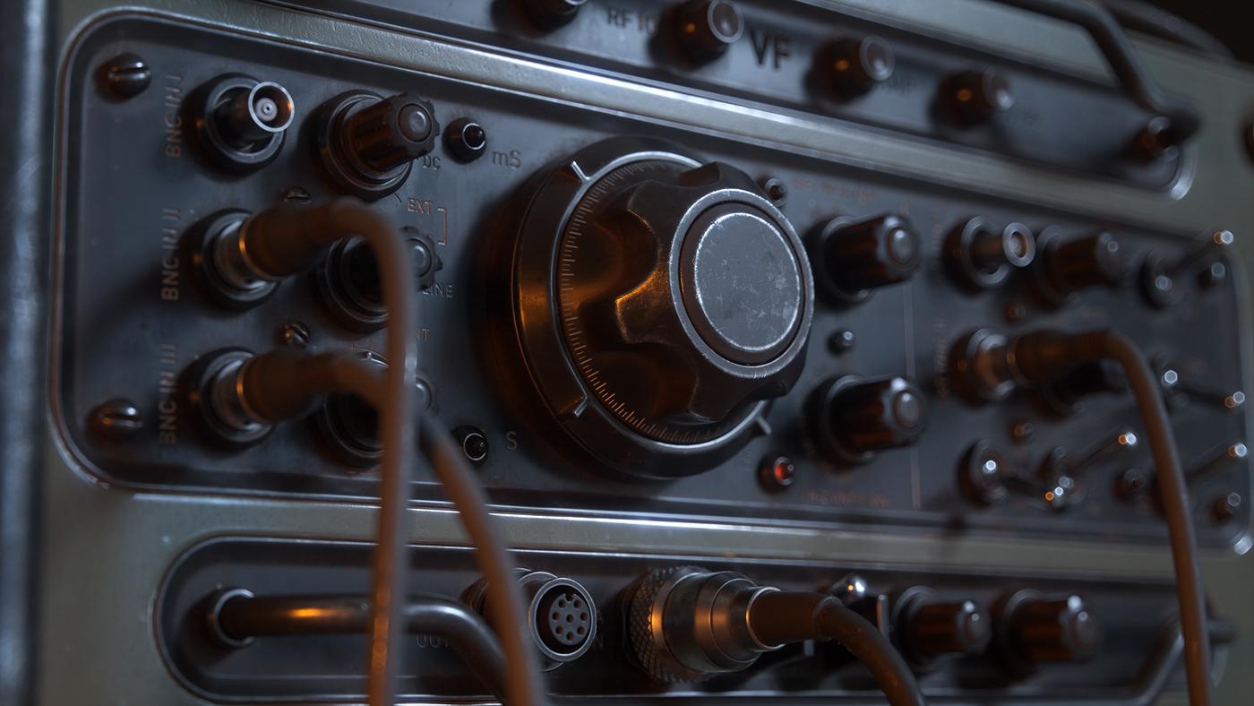 Military meters Radio old vintage cables CGI 3D Silverwing-VFX Raphael Rau