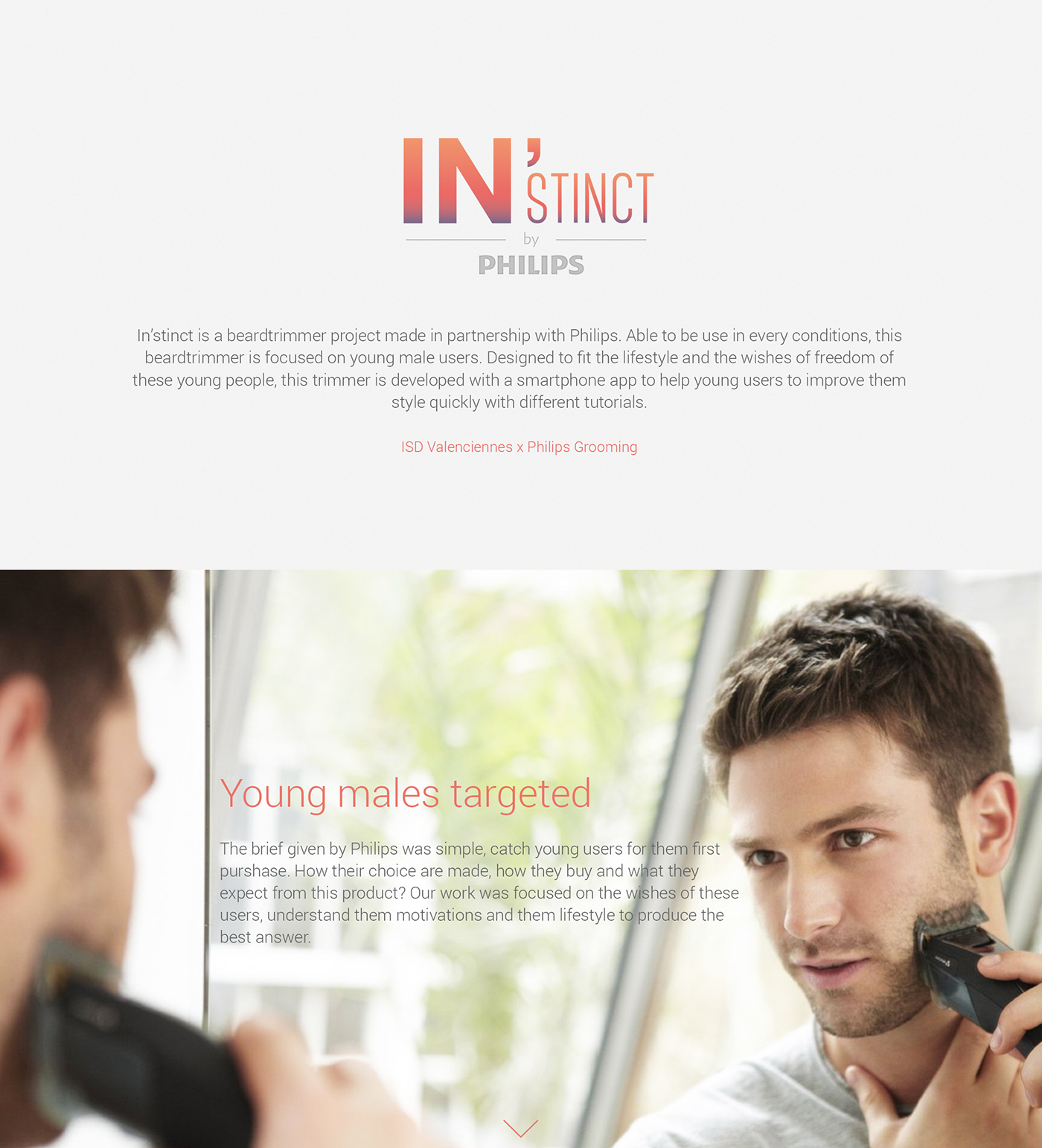 Trimmer,design,ISD,Philips,school,product,ux,UI,industrial,branding