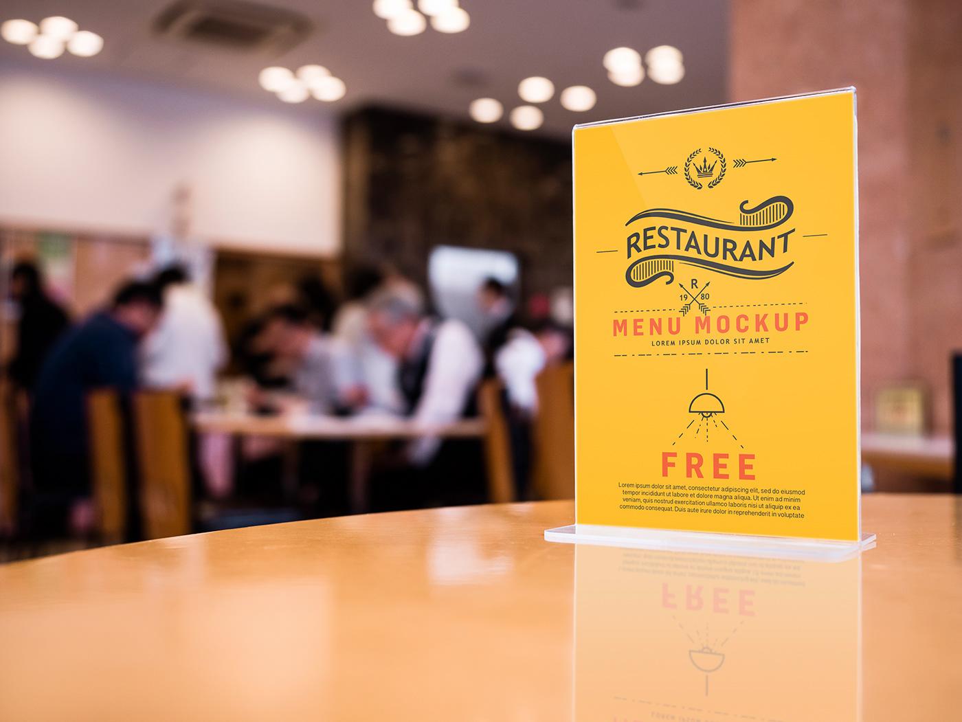 free psd bar restaurant menu mockup on behance