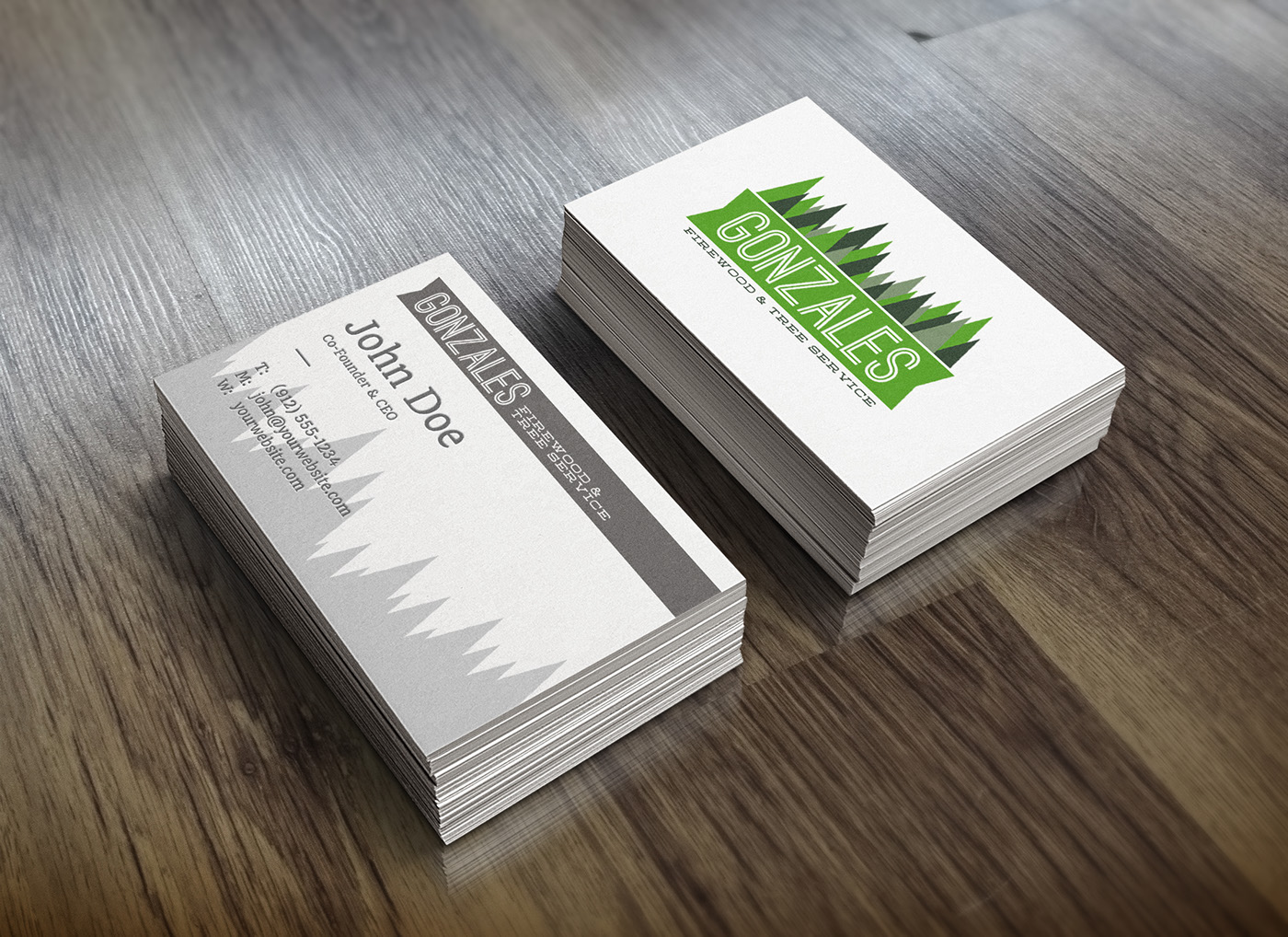 gonzales firewood tree service business cards on behance - Tree Service Business Cards