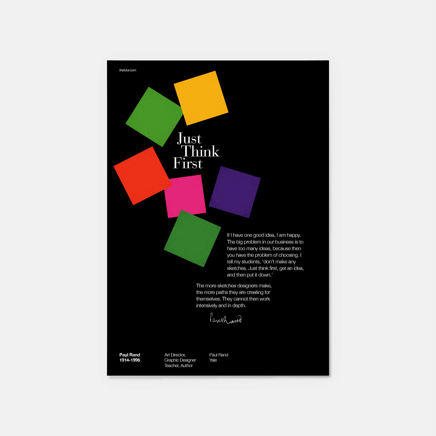 Paul Rand Quotes Poster Series On Behance