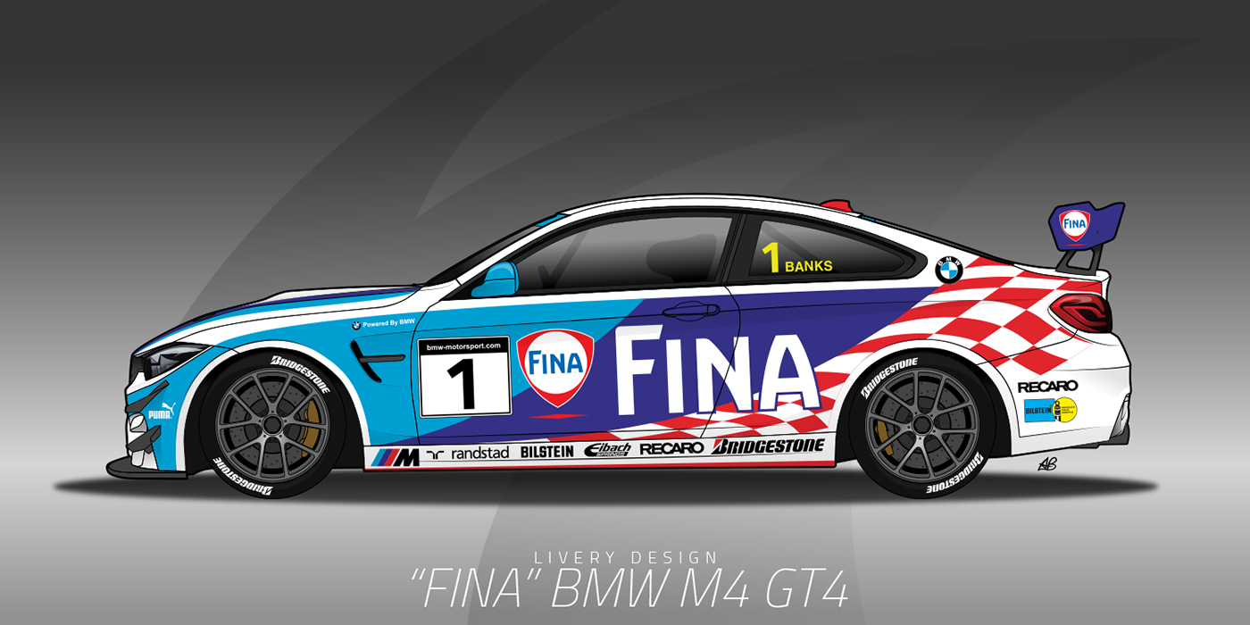 BMW M4 GT4 on Behance