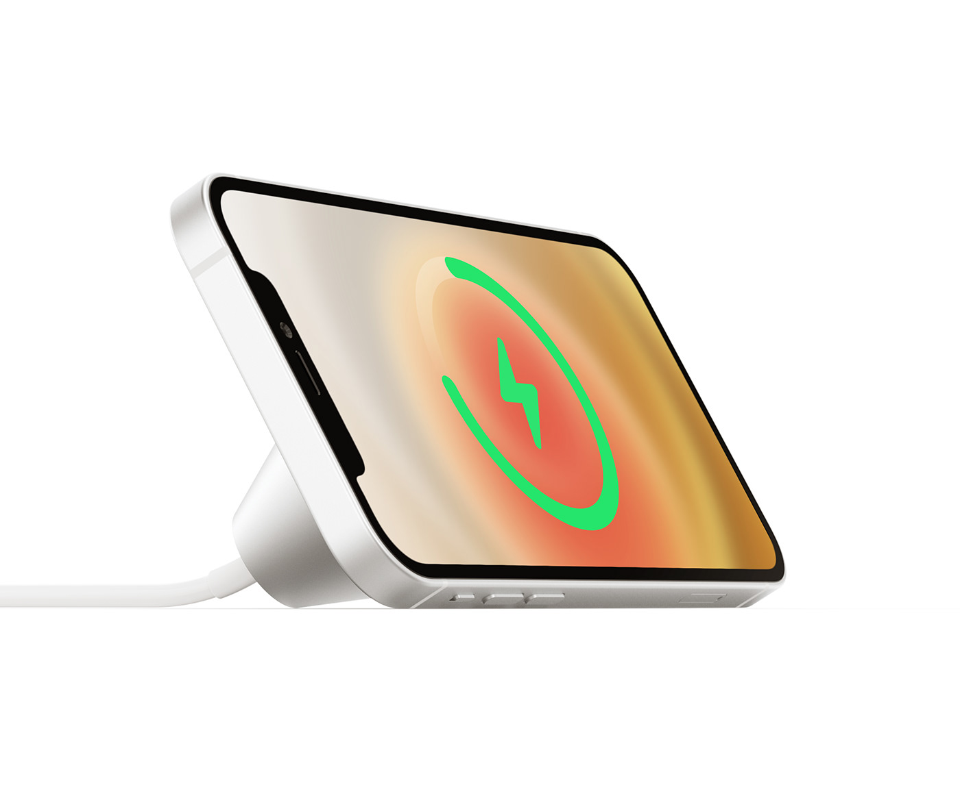 apple industrialdesign iphone iphone12 MagSafe modern productdesign simple Stand steel