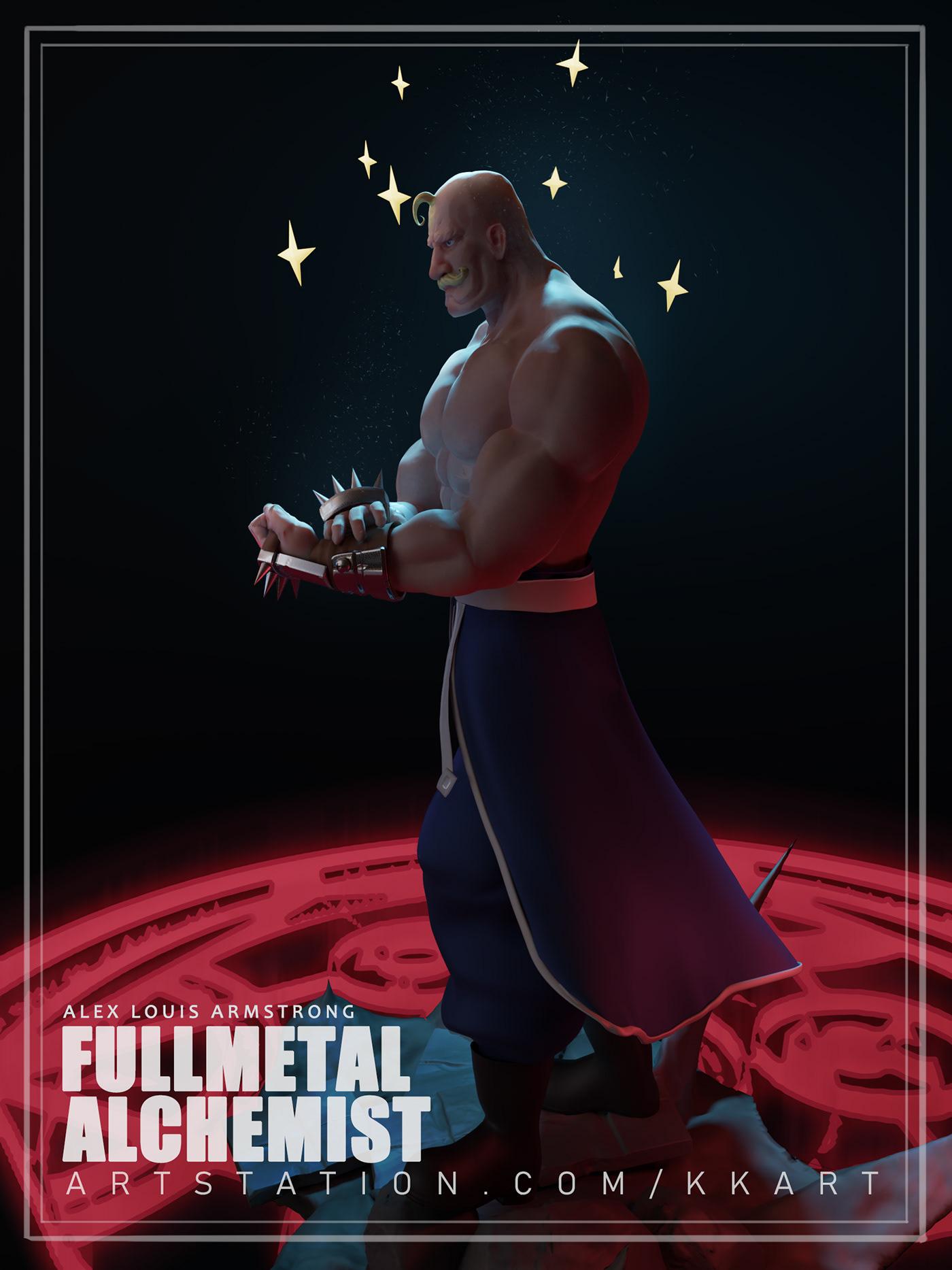 fullmetal alchemist s fan artalex louis armstrong on behance