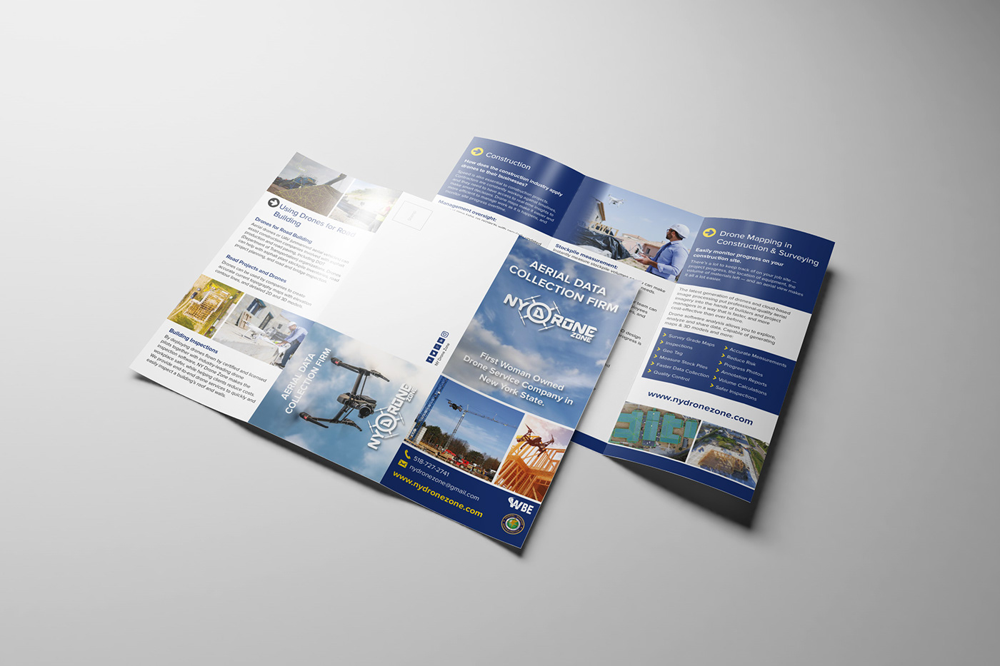 tri fold flyer design on behance