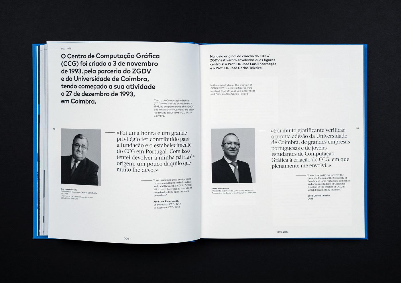 book 25 years University Minho ccg editorial grid
