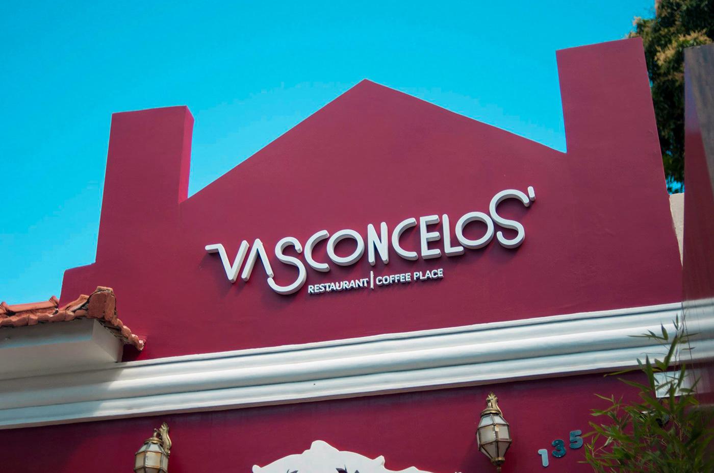 Sinalização restaurante nana vasconcelos Vasconcelos Signage nanà corisco branding  wayfinding restaurant
