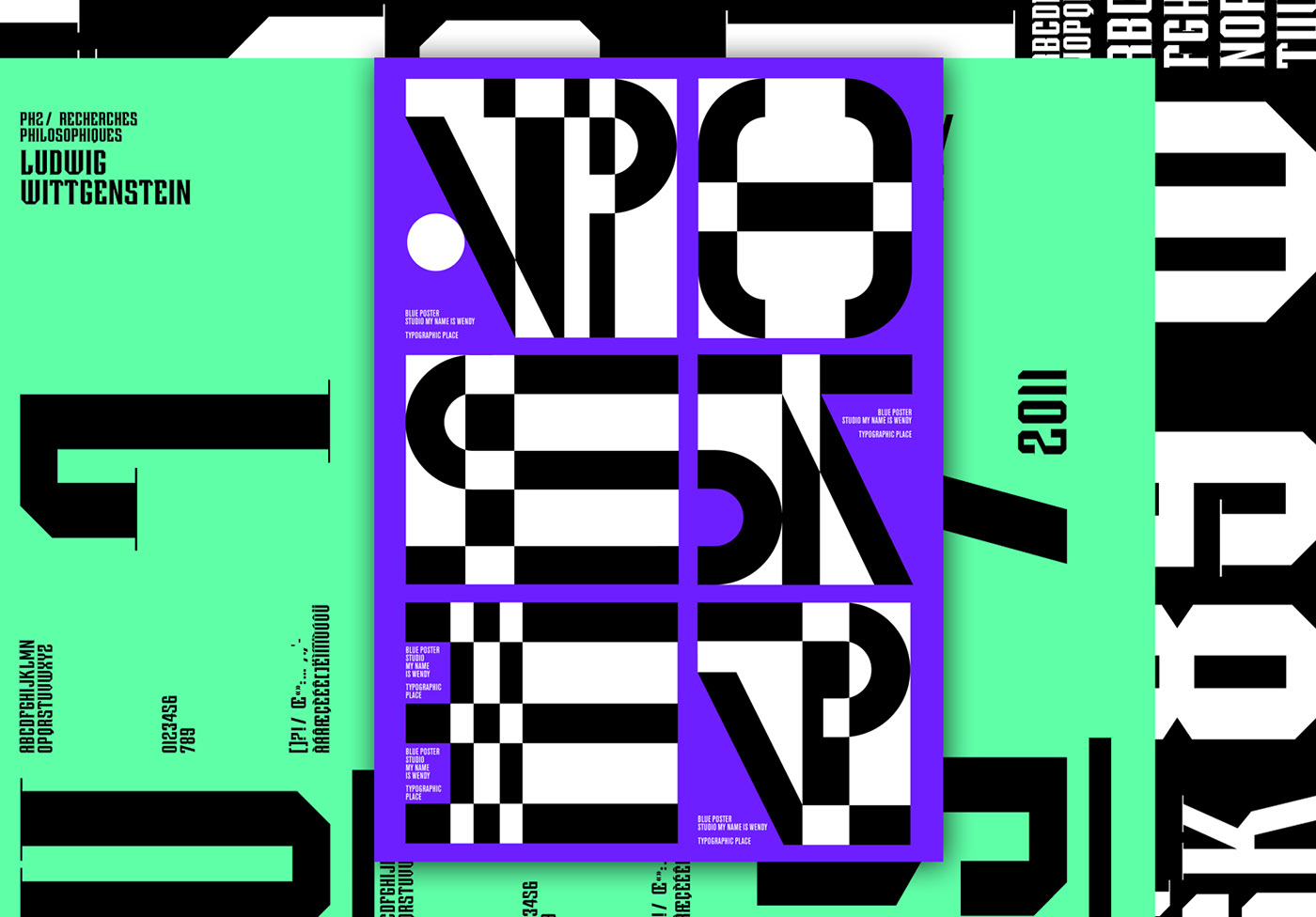 Typographical compositions and posters