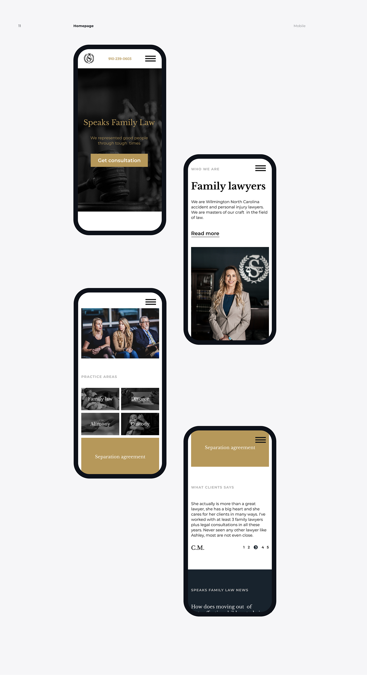 lawfirm Figma redesign law court minimal