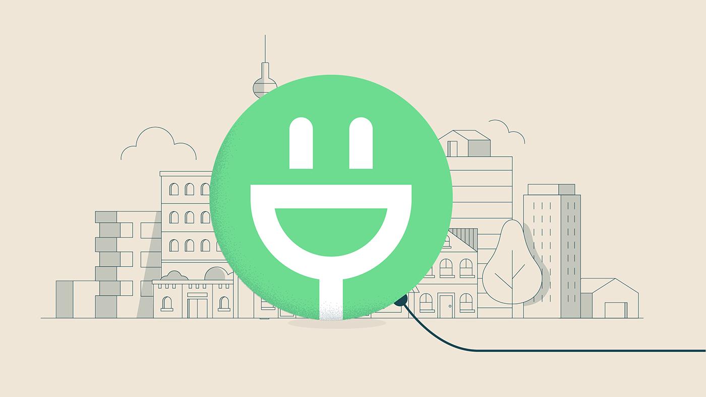 animation  Green Energy ILLUSTRATION  Startup