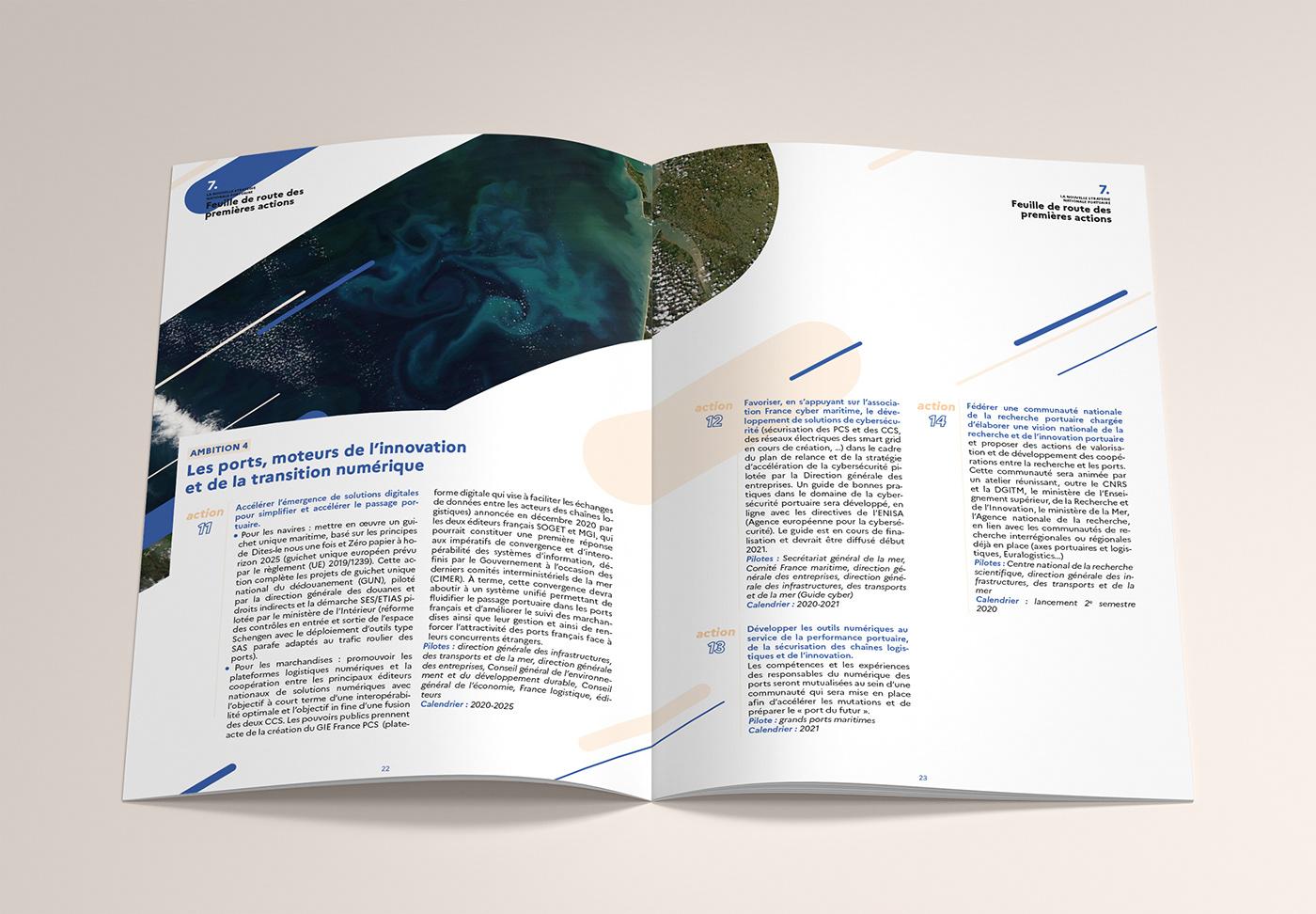 brochure Coast france French Government harbour leaflet port presentation sea