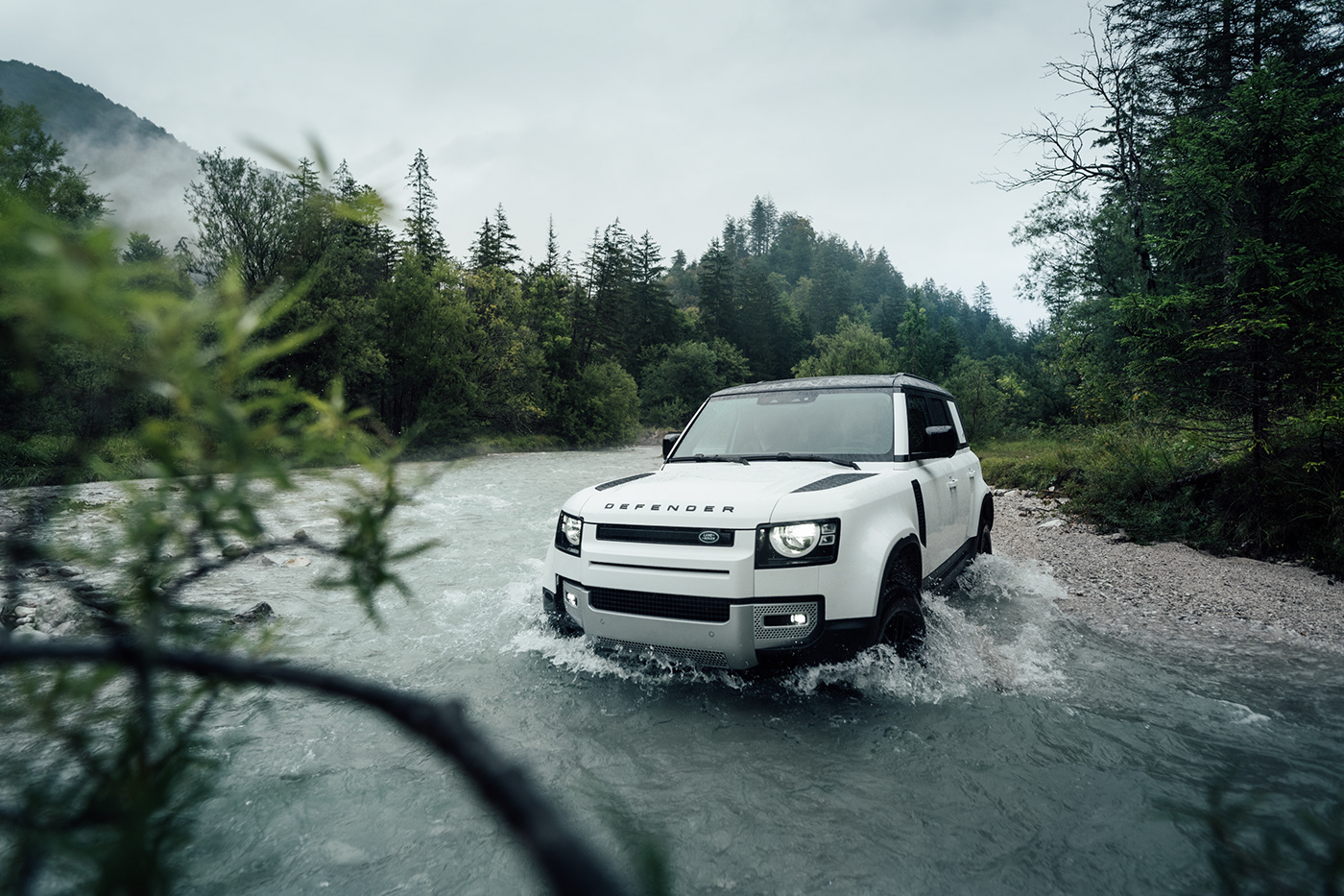 Advertising  automotive   Land Rover land rover defender new defender Offroad offroad vehicle alpine austria Automotive Photography