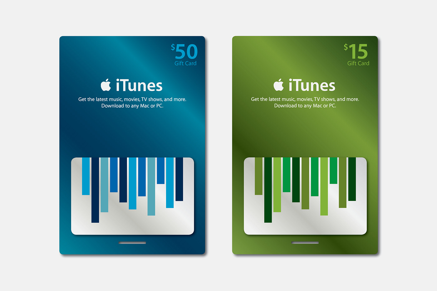 Itunes Gift Cards On Behance Card 45 Below Are Some Of The Studies Done Before Approved Concept Was Produced Concepts Range From Traditional Holiday Imagery To A Winter White Palette